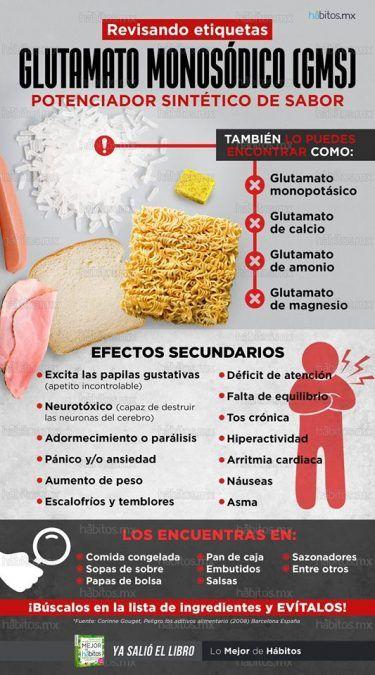Glutamato de sodio y sus efectos sobre nuestra salud